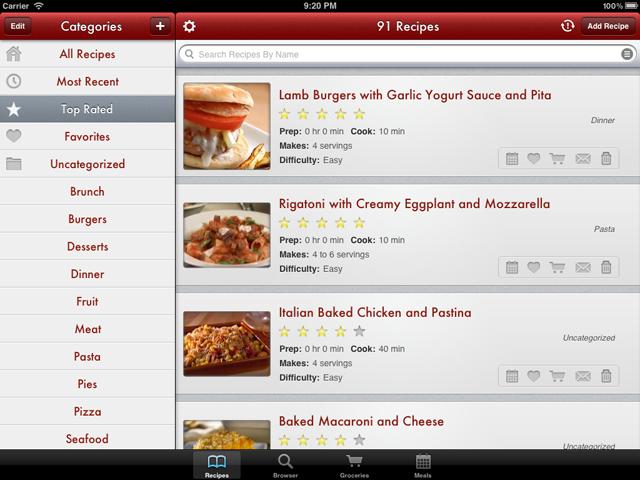 Recipe management via the Paprika App.