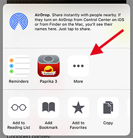 Paprika User Guide for iOS